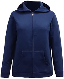 Petite Fleece Zip-Up Hoodie, Created for Macy's