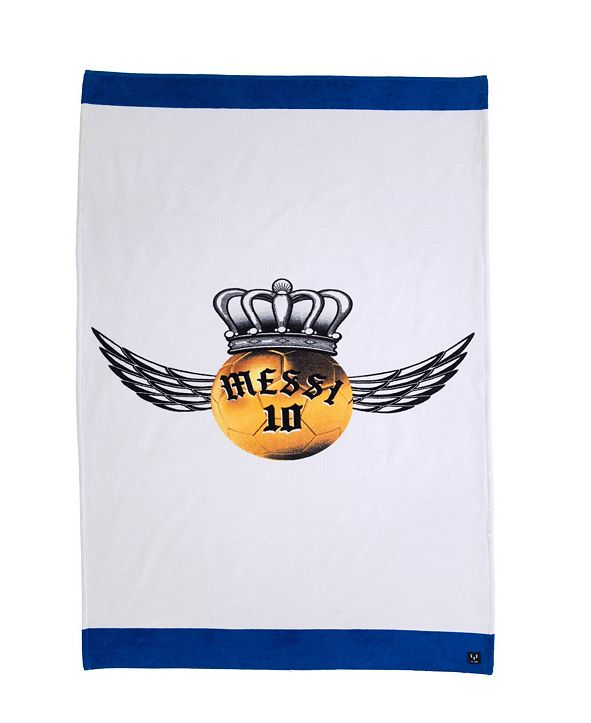 Enchante Home Messi Golden Ball Wing Beach Towel