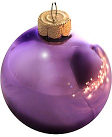 Shiny Glass Christmas Ornaments, Box of 8