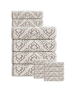 Gonzales Turkish Cotton 14 Pieces Towel Set
