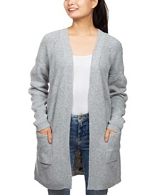 Juniors' Super-Soft Laced-Back Cardigan