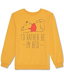 Juniors' Pooh I'd Rather Be In Bed Sweatshirt