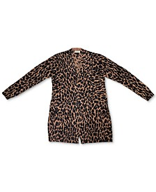 Animal-Print Open-Front Cardigan, Created for Macy's