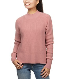 Juniors' Super-Soft Mock-Neck Sweater
