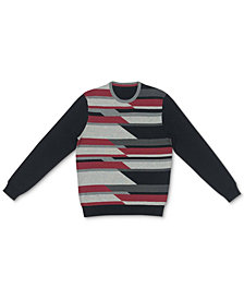 Alfani Men's Geometric Pattern Cotton Sweater, Created for Macy's