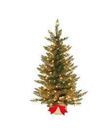 "3"" Pre-Lit Slim Fraser Fir Artificial Christmas Tree"