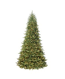 "7.5"" Pre-Lit Down Swept Vienna Fir Artificial Christmas Tree"