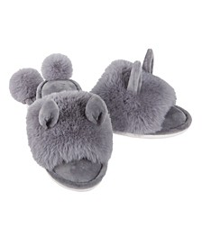 Bunny Hop Pom Pom Women's Plush Slipper