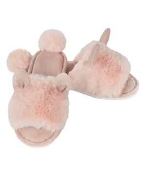 Bunny Hop Pom Pom Women's Plush Slipper