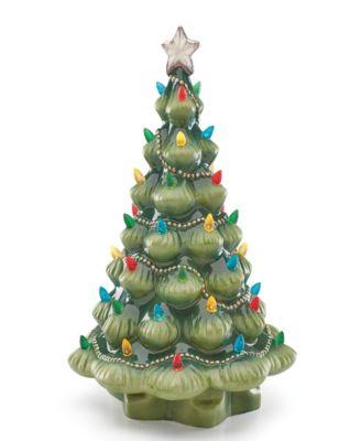 Treasured Traditions Green Porcelain Lit Tree