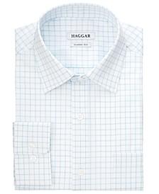Men's Classic/Regular-Fit Comfort Stretch Check Dress Shirt