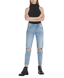 Distressed Ankle Boyfriend Jeans