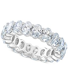 Diamond (6 ct. t.w.) Oval Eternity Band in 14K White Gold