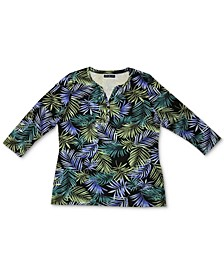 Plus Size Jungle-Print Top, Created for Macy's