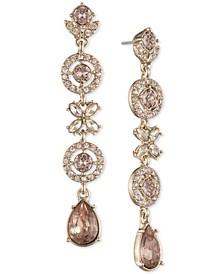 Multi-Crystal Linear Drop Earrings