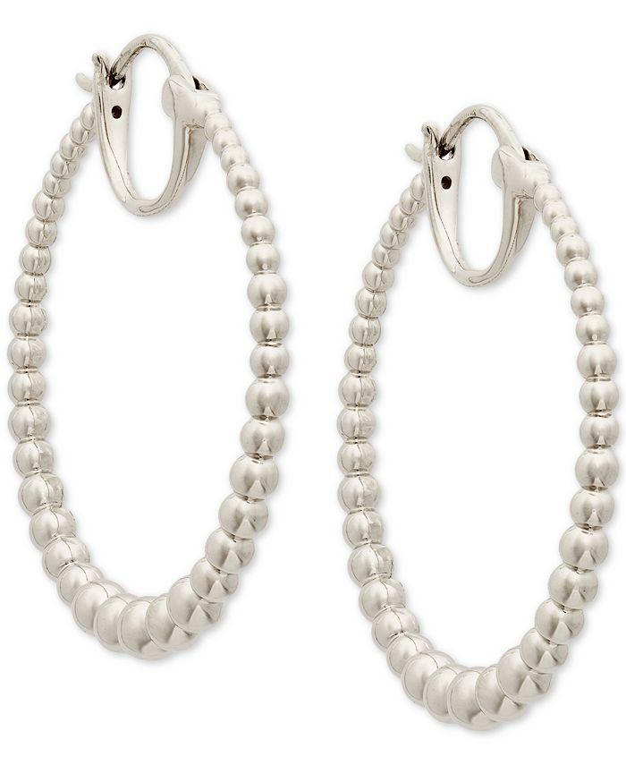 """AVA NADRI - Medium Graduated Bead Hoop Earrings, 1.25"""""""