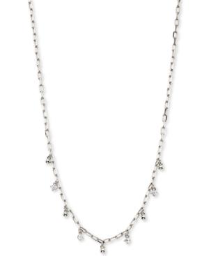 Cubic Zirconia & Bead Shaky Charm Necklace