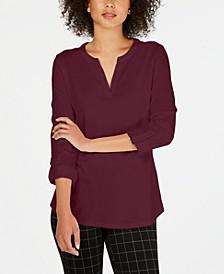 Supima® Cotton Split-Neck Top, Created for Macy's