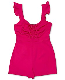 Ruched-Front Flutter Romper, Created for Macy's