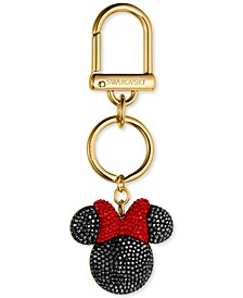 Gold-Tone Red & Black Pavé Minnie Bag Charm