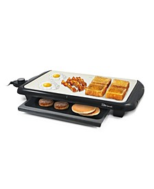"""Electric 18"""" Ceramic Griddle with Warming Drawer"""