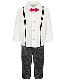 Baby Boys 2-Piece Bow Tie Dress Shirt and Pants Set, Created for Macy's