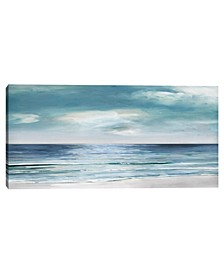Blue Silver Shore by Sally Swatland Canvas Art Print