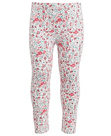 Toddler Girls Holiday Ditsy Floral Leggings, Created for Macy's
