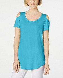 Cold-Shoulder Swing T-Shirt, Created for Macy's