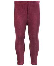 Baby Girls Ribbed Velour Legging, Created for Macy's