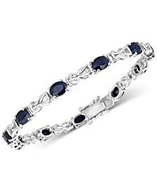 Sapphire Link Bracelet (10-1/2 ct. t.w.) in Sterling Silver