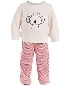 Baby Girls 2-Pc. Koala Top & Pants Set, Created for Macy's