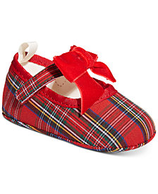 First Impressions Baby Girls Tartan Flats, Created for Macy's