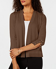 Studded Open-Front Cardigan, Created for Macy's