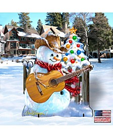 by Dona Gelsinger Guitar Rocker Snowman Freestanding Large Yard Decor