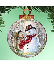 by Dona Gelsinger Mail Man Showman Ornament, Set of 2