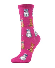Studious Cats Women's Novelty Socks