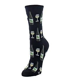 Wine Glass Women's Novelty Socks