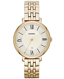 Jacqueline Gold-Tone Stainless Steel Watch 36mm