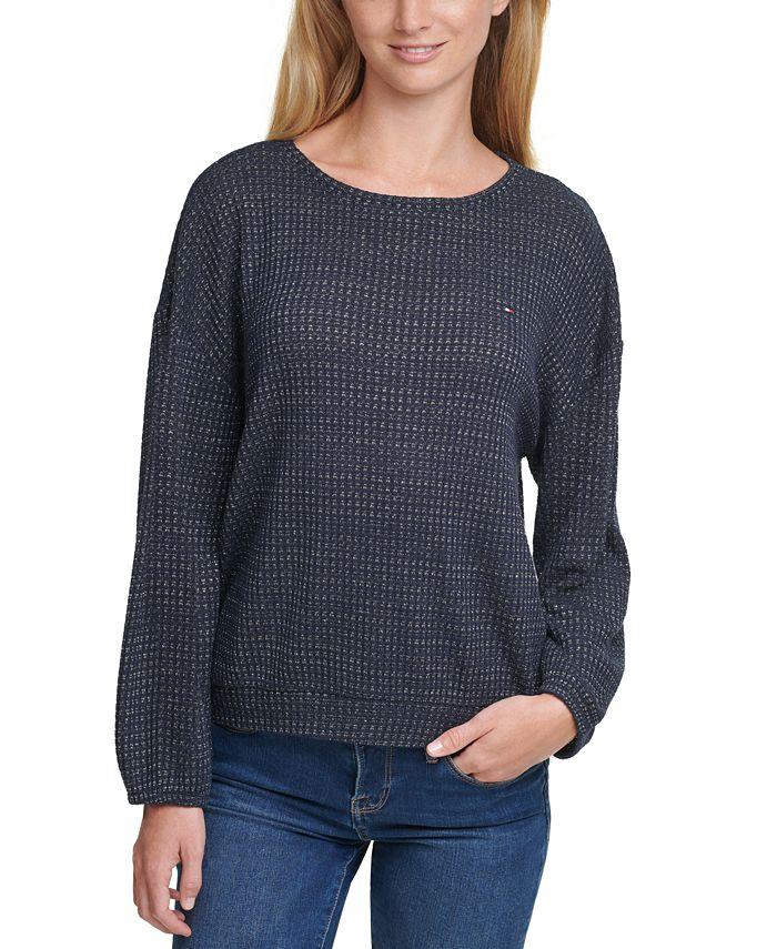 Tommy Hilfiger - Lurex Waffle Knit Sweater