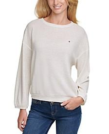 Lurex Waffle Knit Sweater