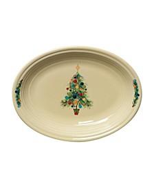 Christmas Tree Oval Vegetable Bowl