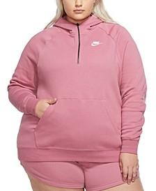 Plus Size Essential Logo Hoodie