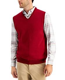 Men's V-Neck Sweater Vest, Created for Macy's