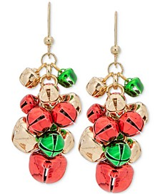 Tri-Tone Jingle Bell Shaky Drop Earrings, Created for Macy's