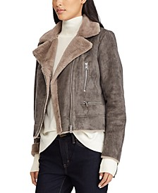 Faux-Shearling Moto Jacket