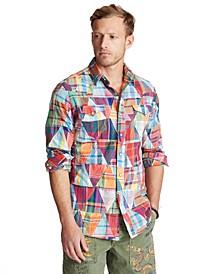 Men's Patchwork Madras Shirt