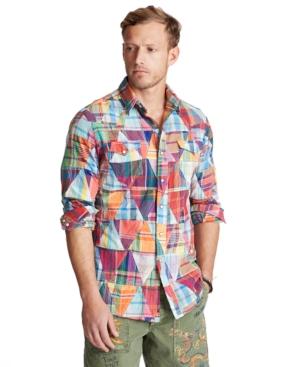 Polo Ralph Lauren Men's Patchwork Madras Shirt