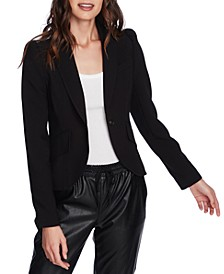 Puff-Sleeve One-Button Blazer