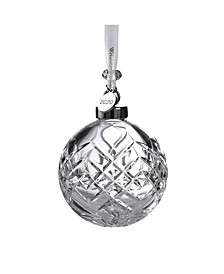 Signed Crystal Ball Ornament